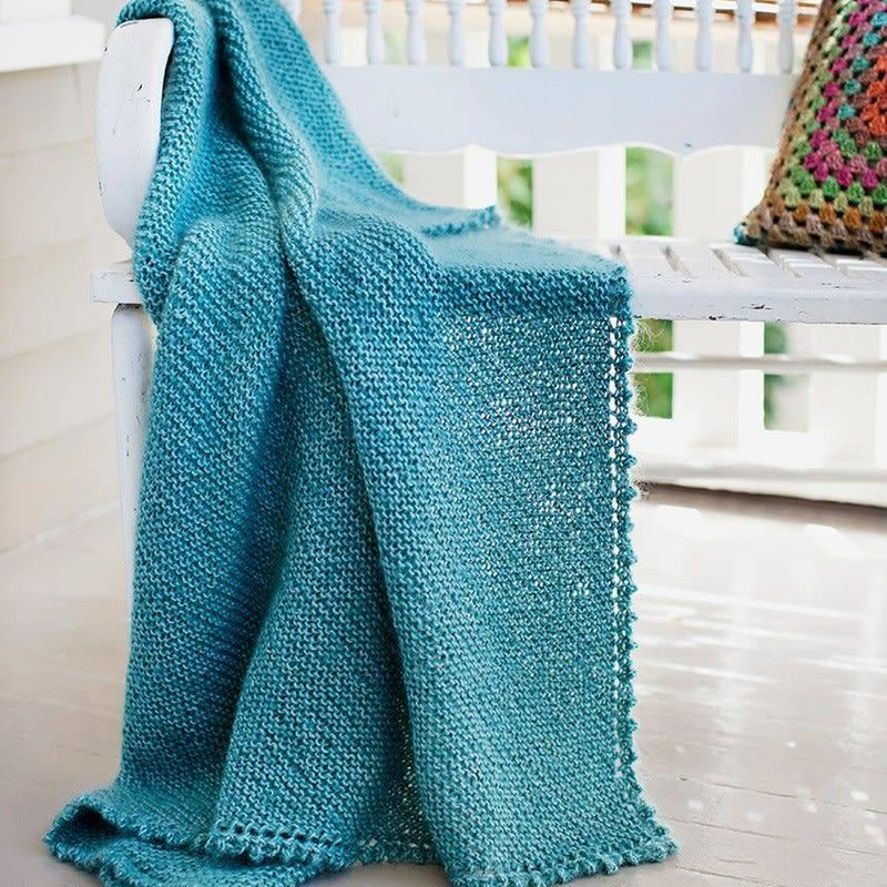 Churchmouse Yarns & Teas Picot-Edge Mohair Throw/Afghan