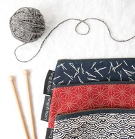 Twig & Horn Medium Notions Zipper Pouch - Red Sashiko