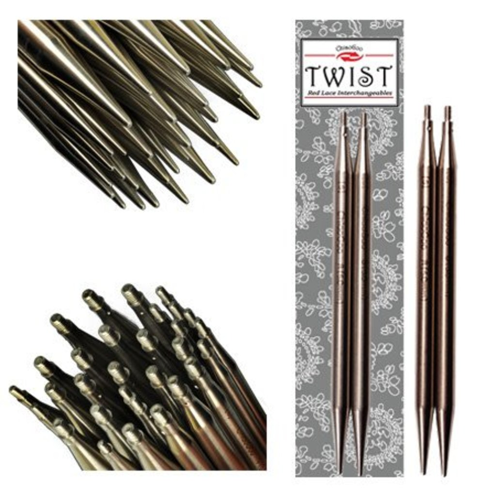 "ChiaoGoo TWIST SS Red Lace Tips - 5"" (Large)"