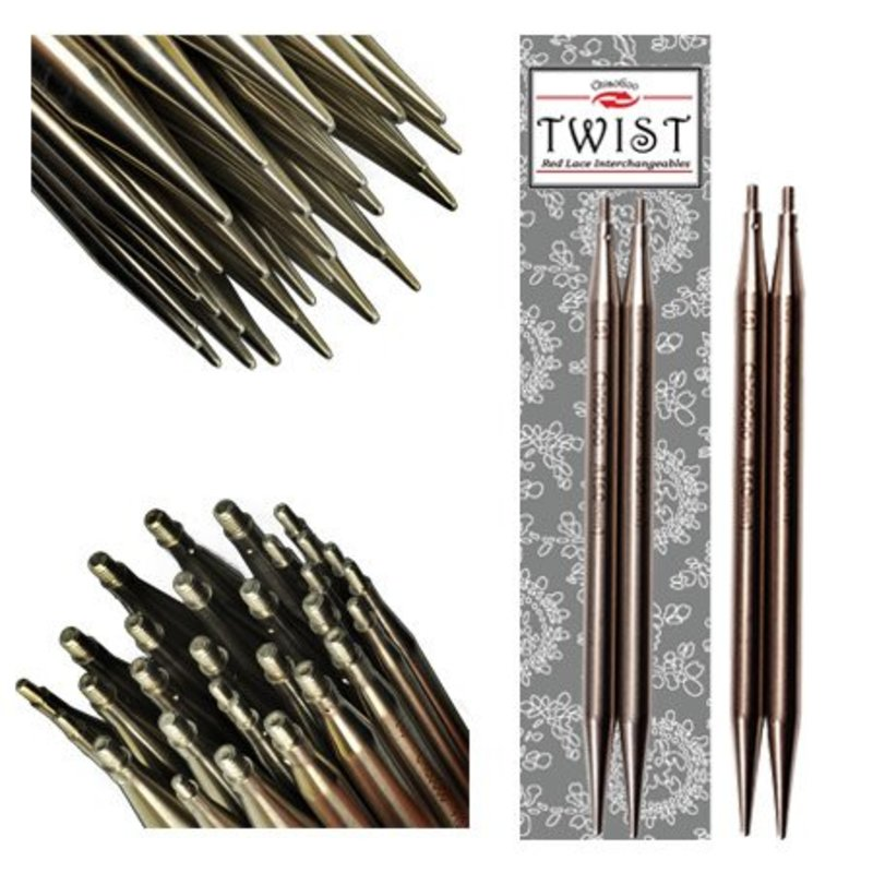 """ChiaoGoo TWIST SS Red Lace Tips - 5"""" (Large)"""