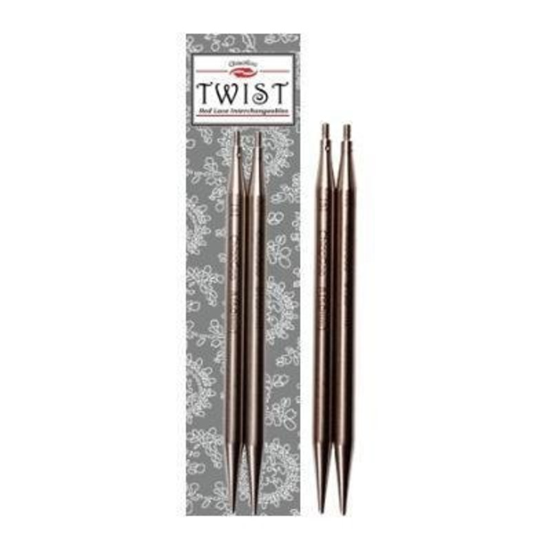 """ChiaoGoo TWIST SS Red Lace Tips - 4"""" (Large)"""