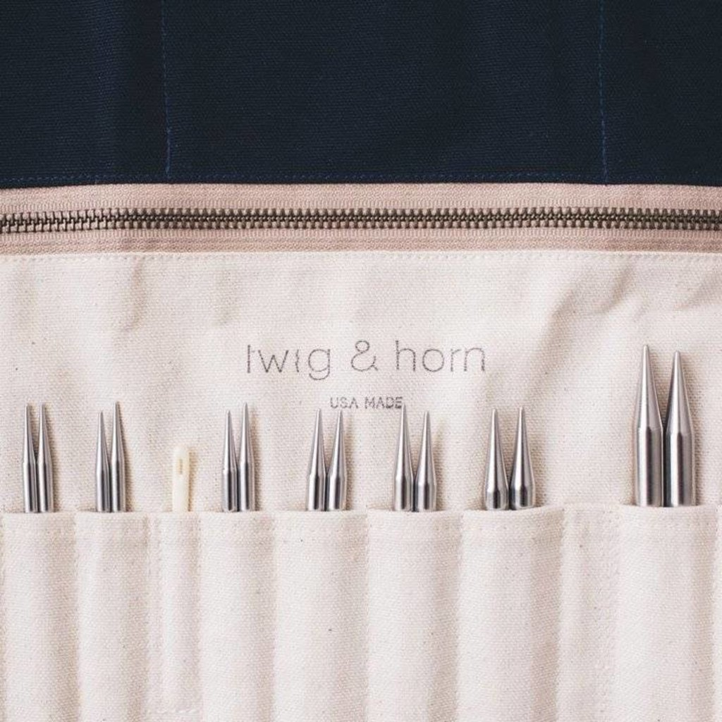 Twig & Horn Canvas Interchangeable Needle Case