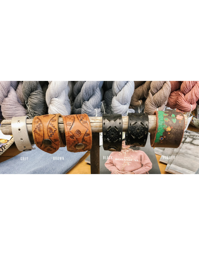 Art of Yarn Leather Cuff