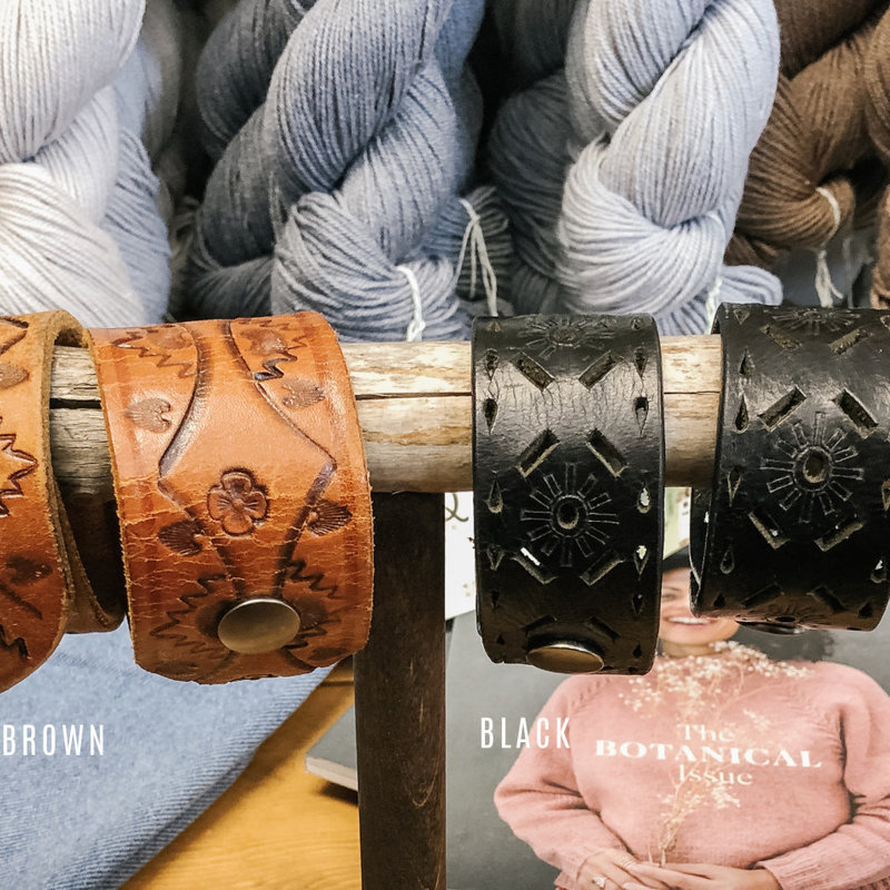 Art of Yarn Leather Cuff
