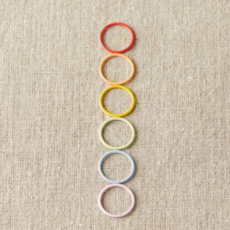 Cocoknits Coloured Ring Stitch Markers Jumbo