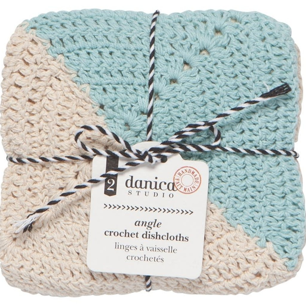 Danica Angle Crochet Dishcloth - 2 pk