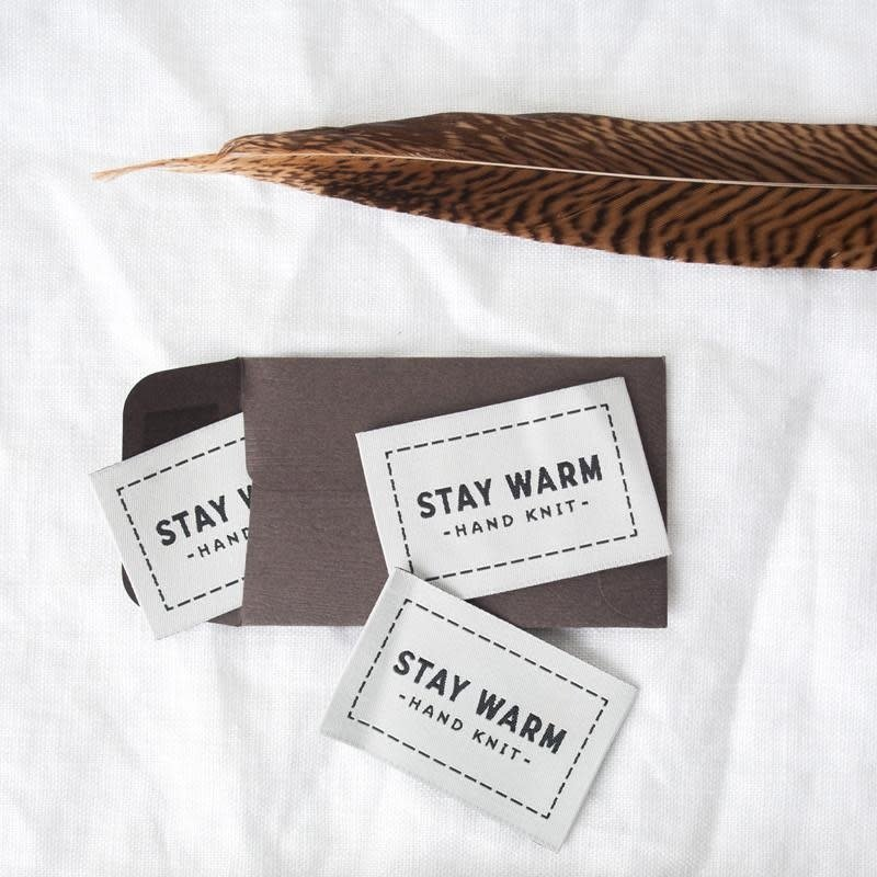 Twig & Horn Stay Warm Label - 3 pack