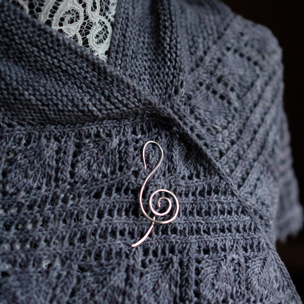 Treble Clef Shawl Pin
