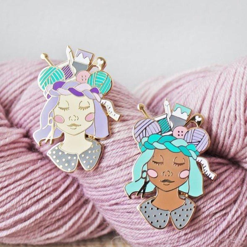 Twill & Print Craft Queen Enamel Pin