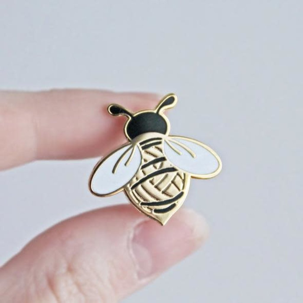 Twill & Print Wooly Bee Enamel Pin