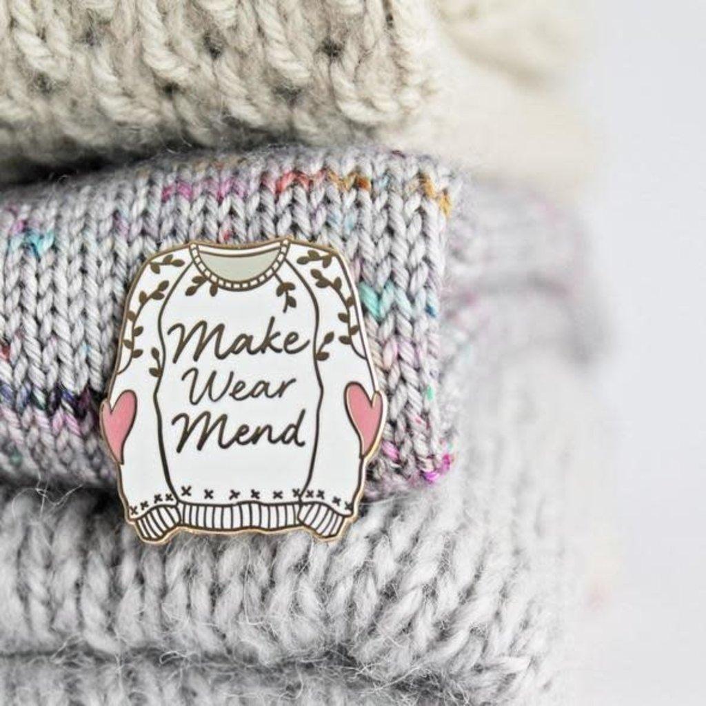Twill & Print Make Wear Mend Enamel Pin