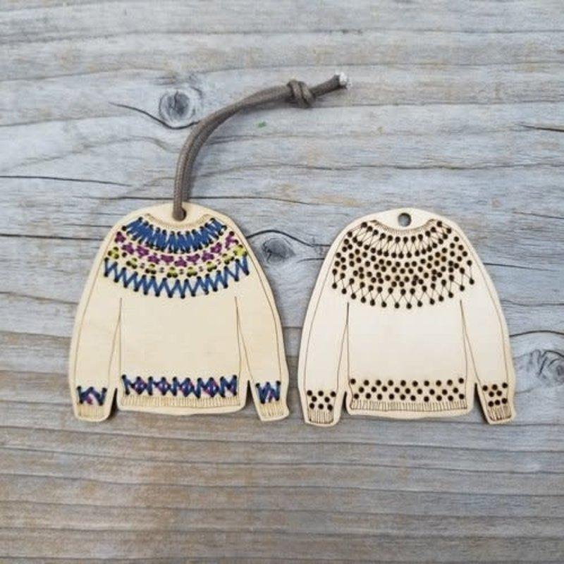 Katrinkles Stitchable Sweater Ornament Kit - Pullover
