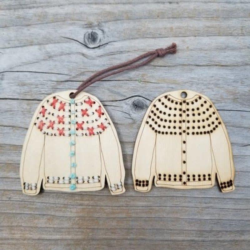 Katrinkles Stitchable Sweater Ornament Kit - Cardigan