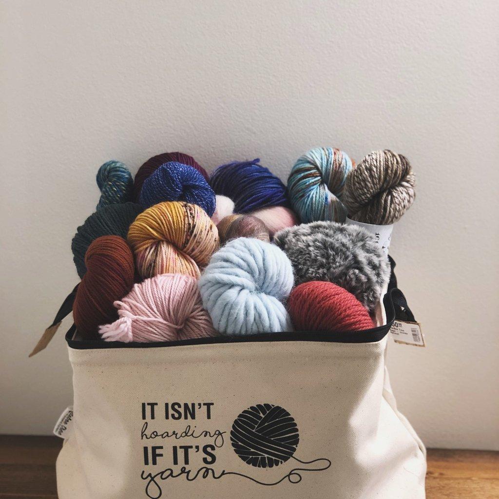 "ElleBee Tree Ellebee Tree Jumbo Retreat Bags ""It Isn't Hoarding if It's Yarn"" Medium"