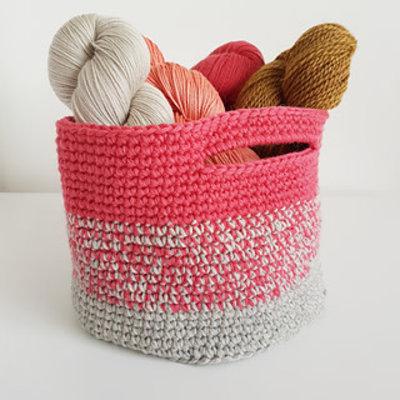 Stash Basket (crochet) - Saturday Afternoon