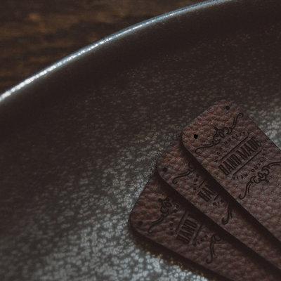 Handmade Leather Label (set of 4)