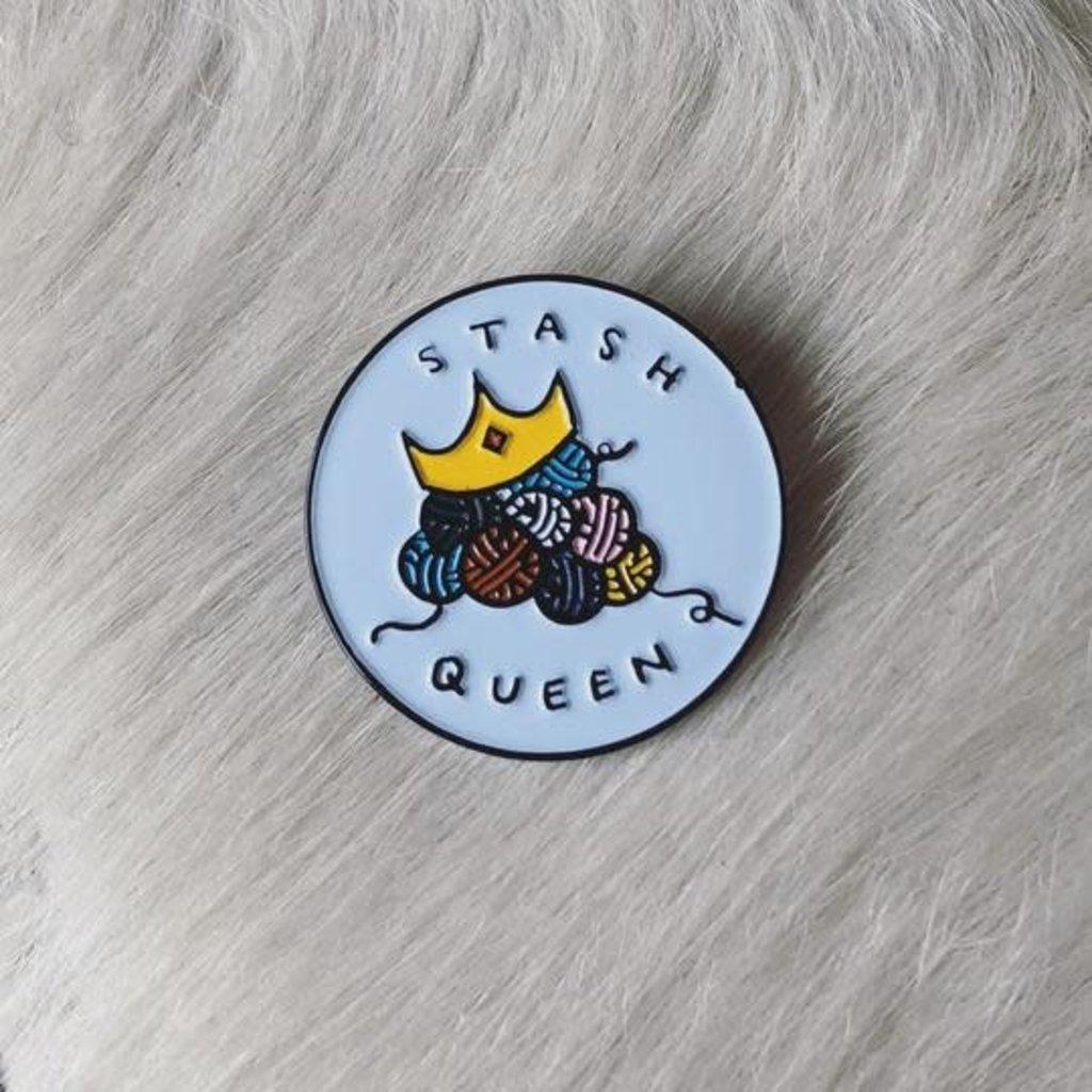 Stash Queen Enamel Pin