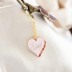 Wool Heart Key Chain