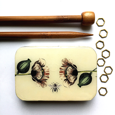 Bee and Poppy Notions Tin