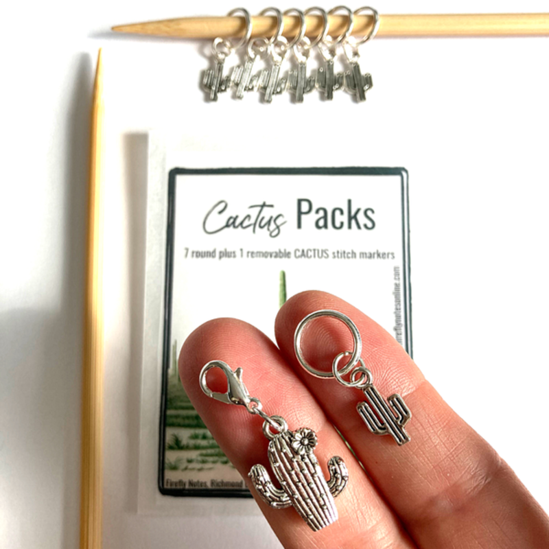 Cactus Stitch Marker Packs