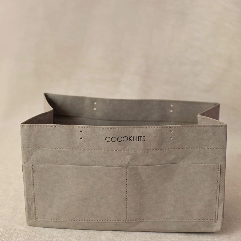 Cocoknits Kraft Caddy with Short Leather Handles