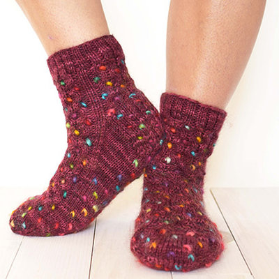Fleece Artist Honey Thrum Socks