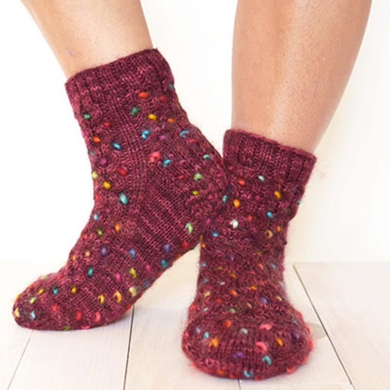 Fleece Artist Honey Thrum Socks