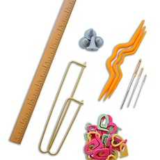 "SeeKnit Accessories Set with 8"" Ruler"