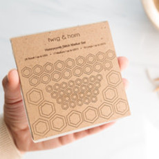 Twig & Horn Honeycomb Stitch Marker Set