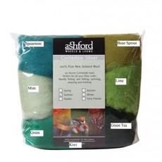 Ashford Corriedale Sliver Packs - 100g (7 colours/pk)