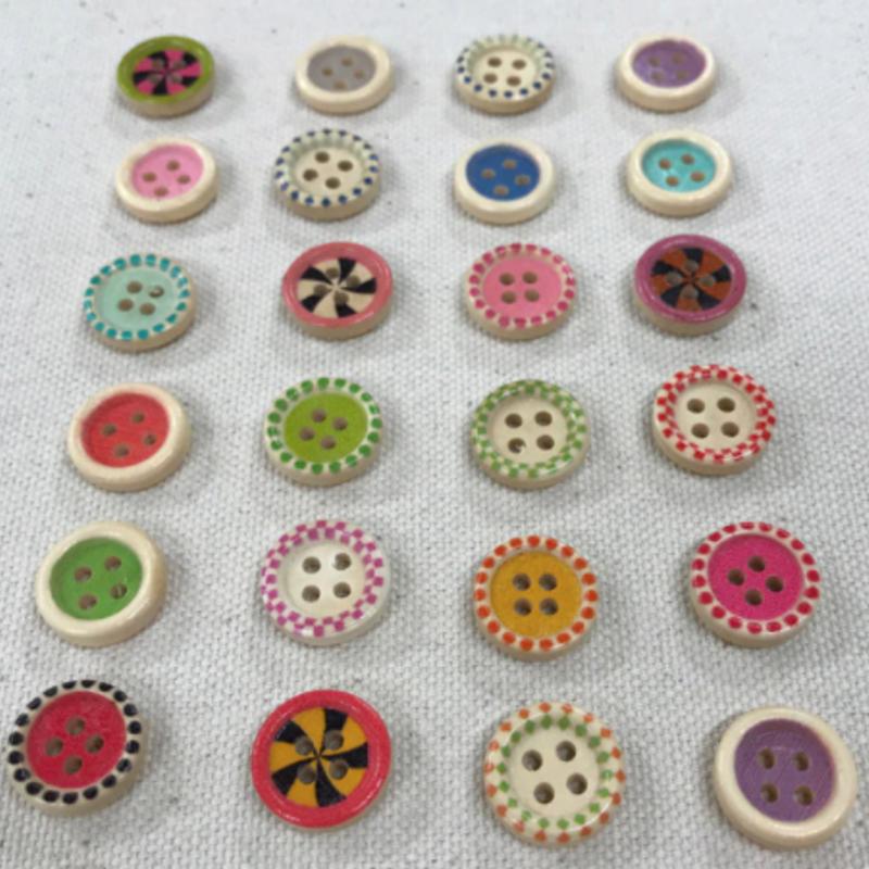 "Candy Button  5/8"" (15mm) - 5 pcs per pack"