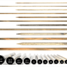 """Lykke Driftwood 12"""" Straight Needle"""
