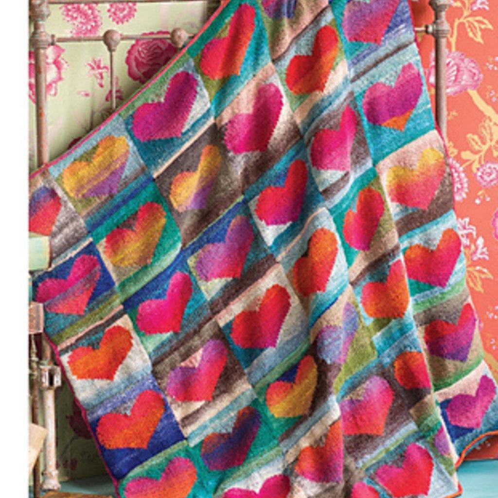 Noro Heart Blanket Kit in Kureyon