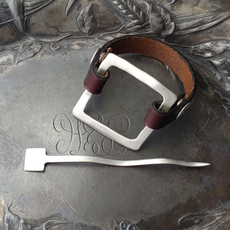 Midcentury Modern Square Cuff/Shawl Pin