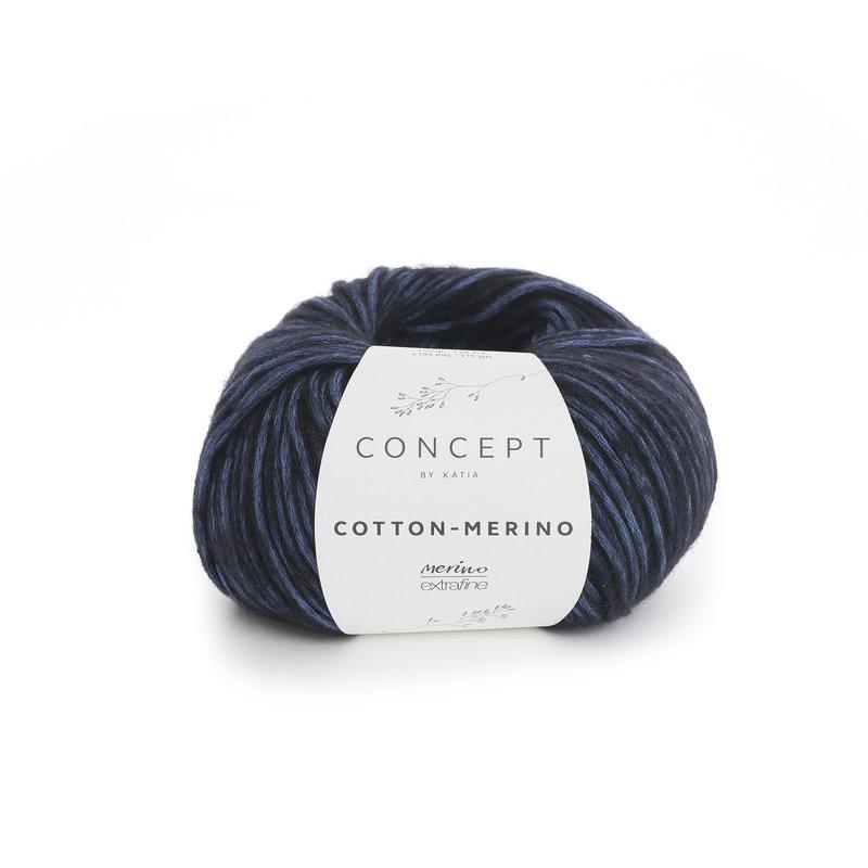 Katia Concept Cotton Merino Night Blue Black 57*