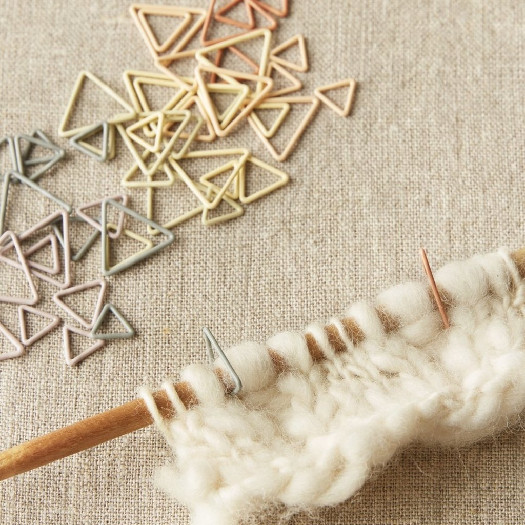 Cocoknits Triangle Stitch Markers - Earth Tones