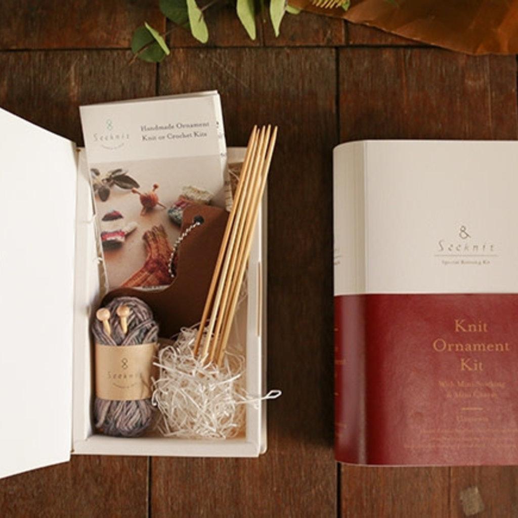 Kinki Amibari Knit Ornament Kit Mini Stocking