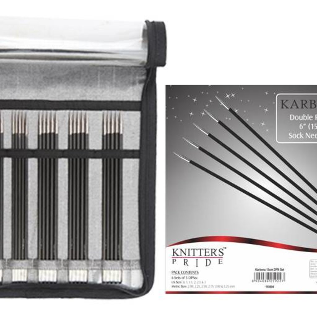 Knitter's Pride Karbonz Double Pointed Sock Needle Set 15cm (6'')