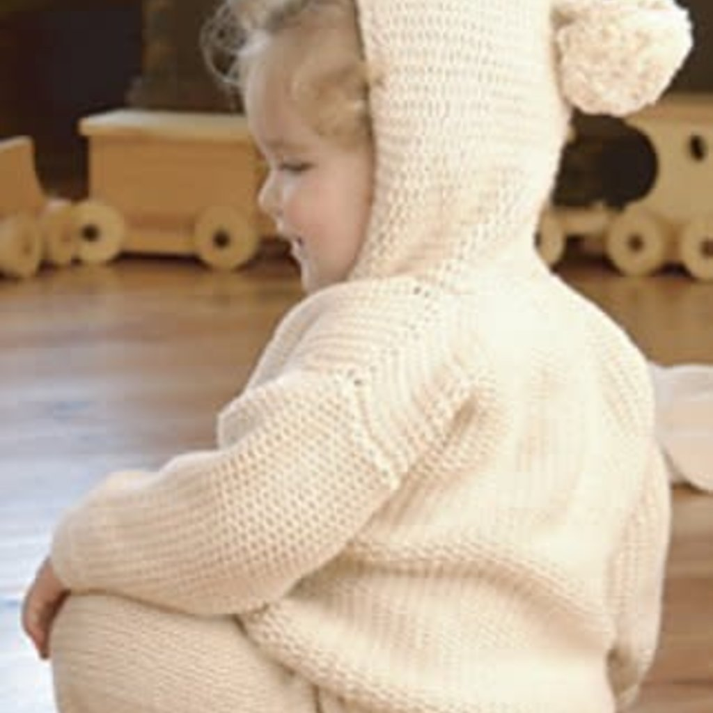 Appalachian Appalachian Baby Designs - Pom Pom Hooded Cardigan Kit