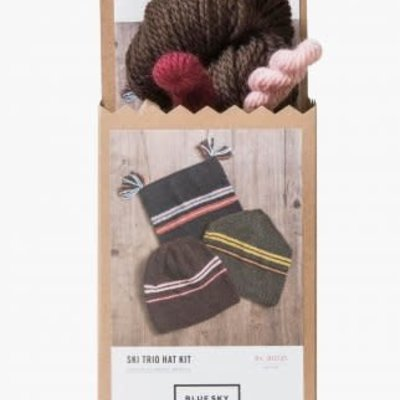 Blue Sky Fibers BSF Ski Trio Hat - Brown