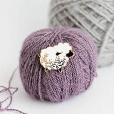 Twill & Print Twill & Print Enamel Pin - Little Sheep White