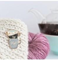 Twill & Print Twill & Print Enamel Pin - Sip Sip Knit