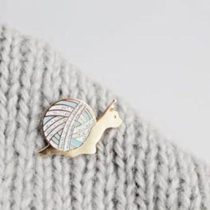 Twill & Print Twill & Print Enamel Pin - Slow Knitter