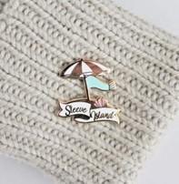 Twill & Print Twill & Print Enamel Pin - Sleeve Island