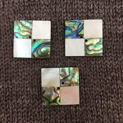 Art of Yarn *Buttons - Square Abalone & White Shell