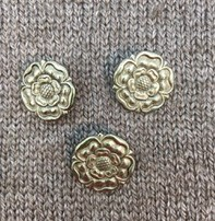 "Dill Buttons *Buttons - Metal Antique Silver 7/8"", 2cm"