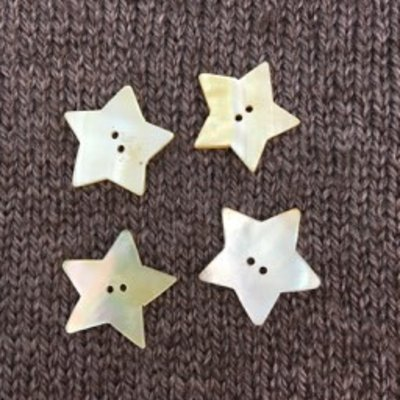 "Art of Yarn *Buttons - Star Shell, 1"", 2.5cm"