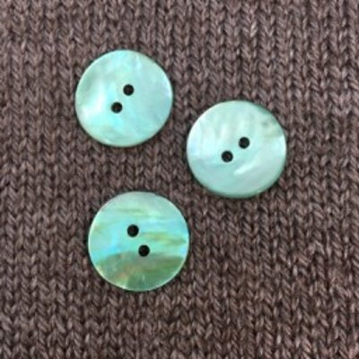 """Renaissance/Blue Moon *Buttons - Agoya, Turquoise, 3/4"""", 2cm"""
