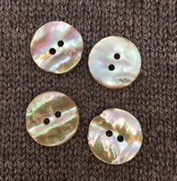 "Buttons, Etc. *Buttons - Natural Abalone, 7/8"", 2.25cm"
