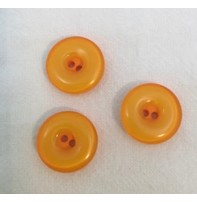 """Buttons Etc *Buttons - Gobbet, Orange 5/8"""", 1.5cm"""
